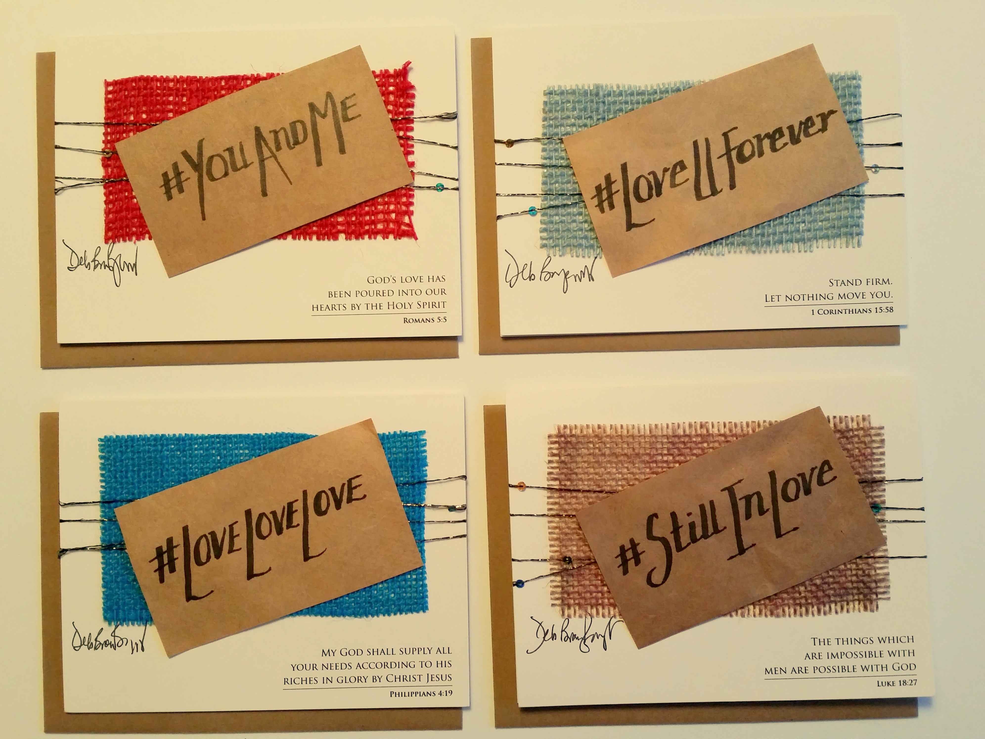 Valentine Card Set – 4 Love cards – Set of Christian