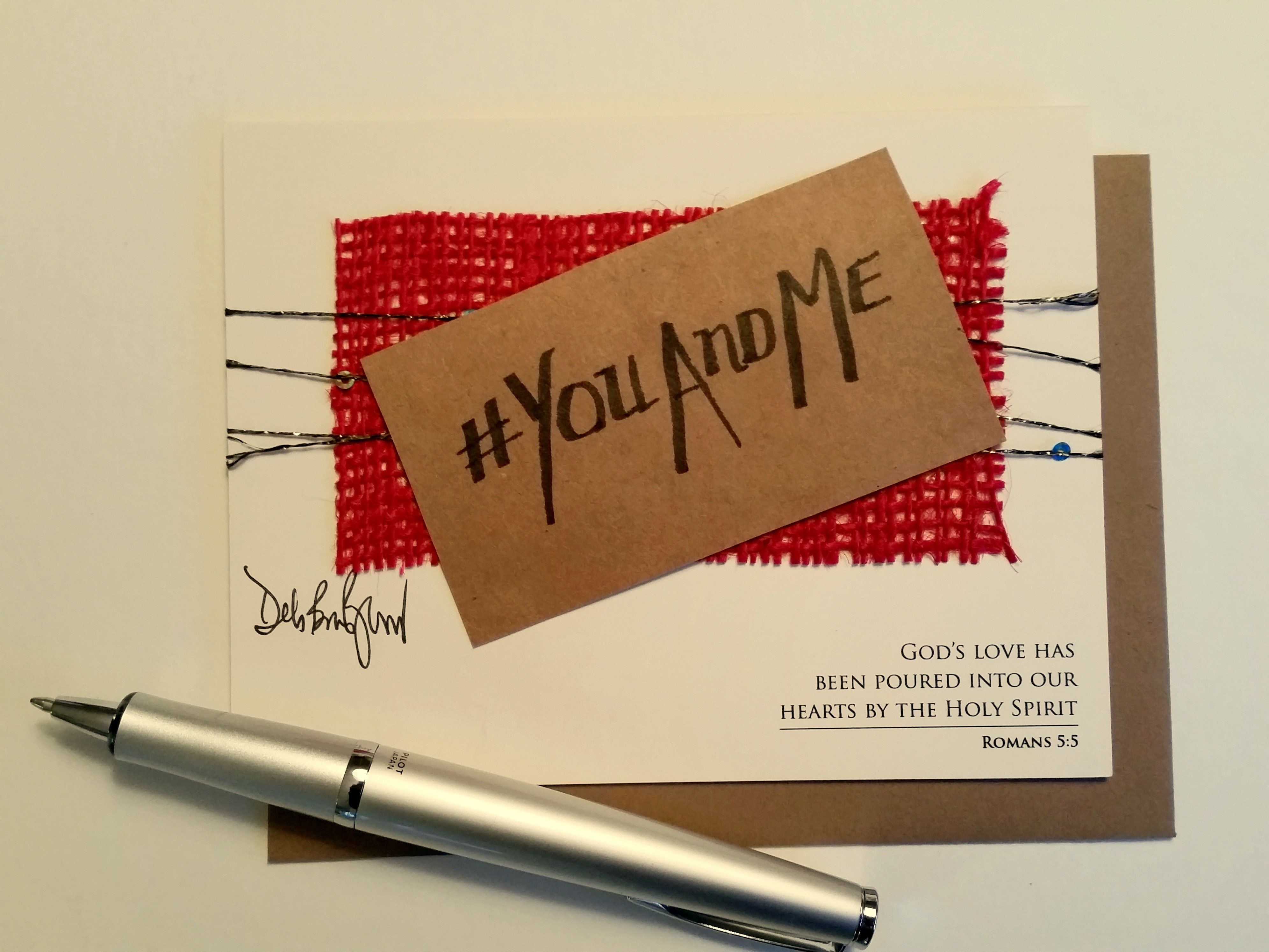 You And Me Hashtag Card Handmade Valentines Day Card Romantic
